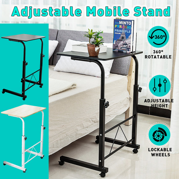 Adjustable Mobile Computer PC Laptop Folding Bed Bedside Table Stand Study Desk