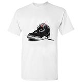 Michael Jordan Unofficial Jumpman Sneaker Shoe Basketball White Men T Shirt Tee