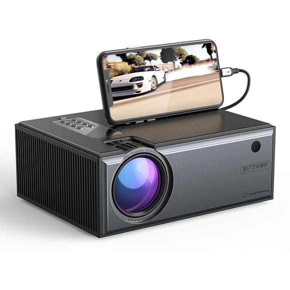 Blitzwolf BW-VP1 PRO 2800LM LCD Phone Home Theater Projector + Speaker + Remote