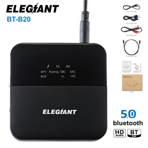 ELEGIANT 20M Wireless Bluetooth 5.0 Audio Transmitter Receiver Amplifier Adapter BT-B20
