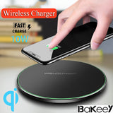 Bakeey Aluminum QI Wireless Fast Phone Charger Charging Pad Mat Receiver Dock
