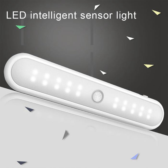 Motion PIR Sensor 20 LED Battery Cabinet Drawer Kitchen Cupboard Stair Light