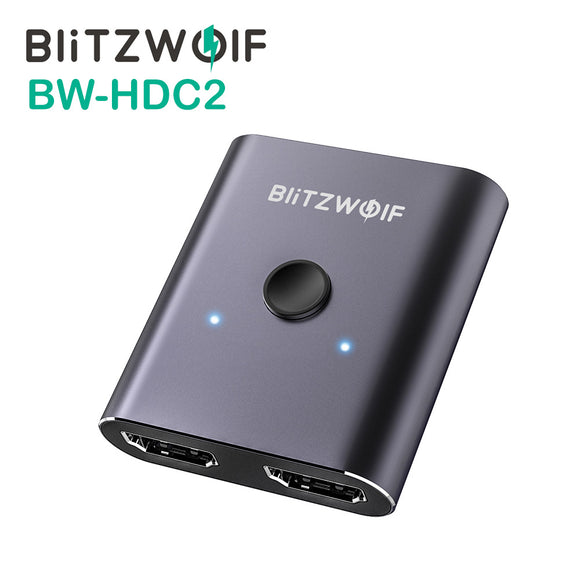 BlitzWolf BW-HDC2 Bi-Directional 1 In 2 Out 4K UHD HDMI Splitter Switch Dongle