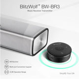 BlitzWolf BW-BR3 Bluetooth Wireless 3.5mm AUX Music Audio Receiver Transmitter