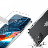 Apple iPhone 12 Mini Clear Case Cover and Tempered Glass Screen Protector Guard