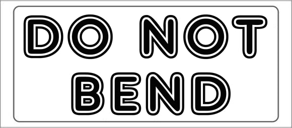 DO NOT BEND shipping label adhesive warning mailing sticky sticker 56x25mm
