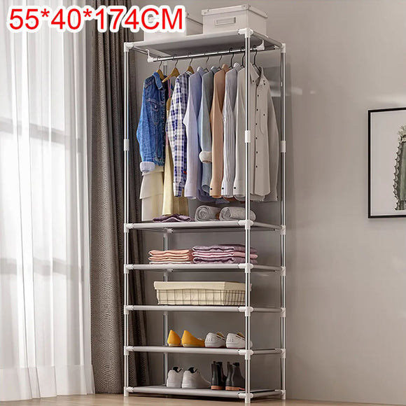 Clothes Shoe Coat Garment Rack Shelf Hanger Storage Holder Closet Organiser