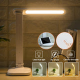 LED Dimmable Eye Protection USB Qi Wireless Phone Charger Study Desk Lamp Light