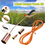 Garden Weed Grass Shrub Killer Butane Gas Torch Burner Handle Nozzle Tool Kit