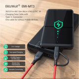 BlitzWolf 2 in 1 Micro USB to Type C Fast Charging Charger Data Cable Cord BW-MT3