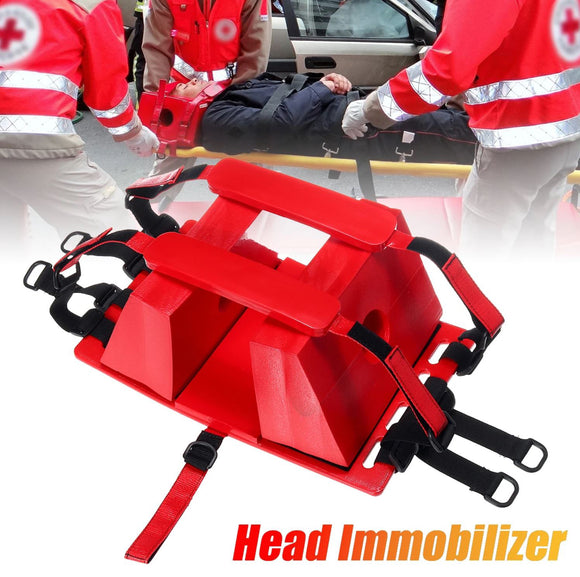 Head Immobilizer Spine Neck Fixator Fixation for Brace Stretcher Backboard EMS CT