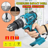 3 In 1 Rechargable Electric Cordless 2 Speed Impact Drill For 18V Makita Battery