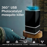 Safe USB LED Photocatalyst Mosquito Insect Bug UV Light Killer Zapper Trap Lamp