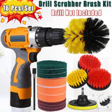 16Pcs Bathroom Shower Grout Tile Drill Cleaning Scrubber Cleaner Brush Set Kit