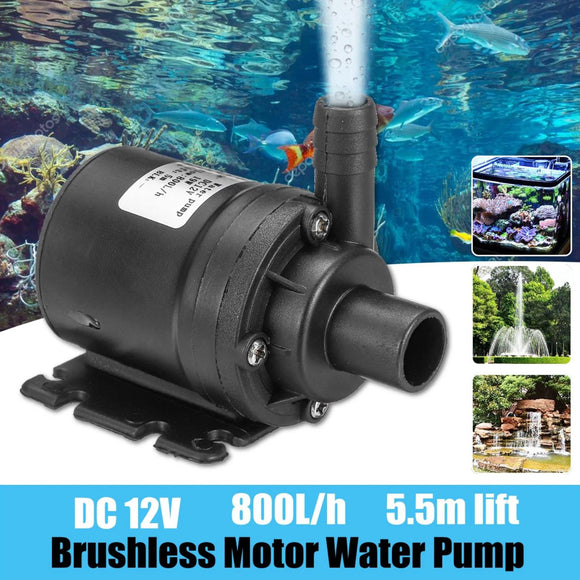 800L/h 12V 5.5m Ultra Quiet Brushless Motor Mini Submersible Water Pump Lift