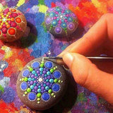 20Pcs Mandala Dotting Painting Tools Kit Pen Paint Stencil Dot Rock Nail Art