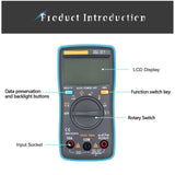 Digital LCD True RMS Multimeter Volt Meter Ammeter AC DC Voltage Current Tester