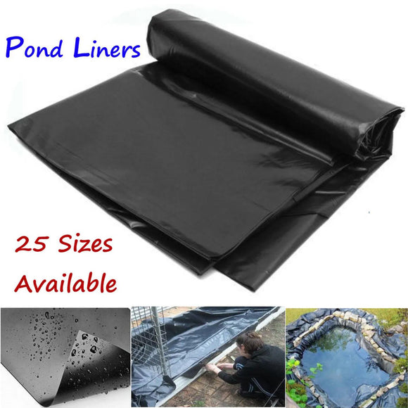 8-32ft PVC HDPE Heavy Duty Garden Pool Landscaping Fish Pond Liner Cover