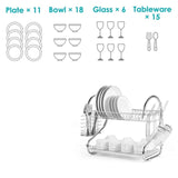 2/3 Tier Kitchen Dish Drainer Plate Drying Rack Organizer Shelf + Utensil Holder