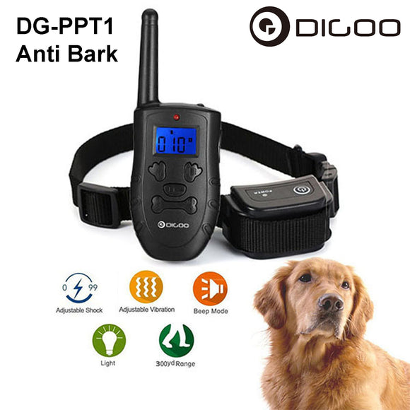 Digoo Pet Dog Rechargeable Waterproof STOP ANTI BARK Training Remote Collar