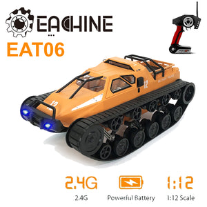 Eachine EAT06 1/12 2.4G RC Remote Control High Speed Off Road Drift Tank + Light