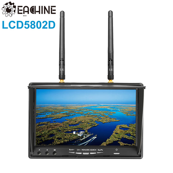 Eachine LCD5802D 5802 5.8Ghz 40CH 7'' LCD FPV Monitor Display Drone DVR Receiver