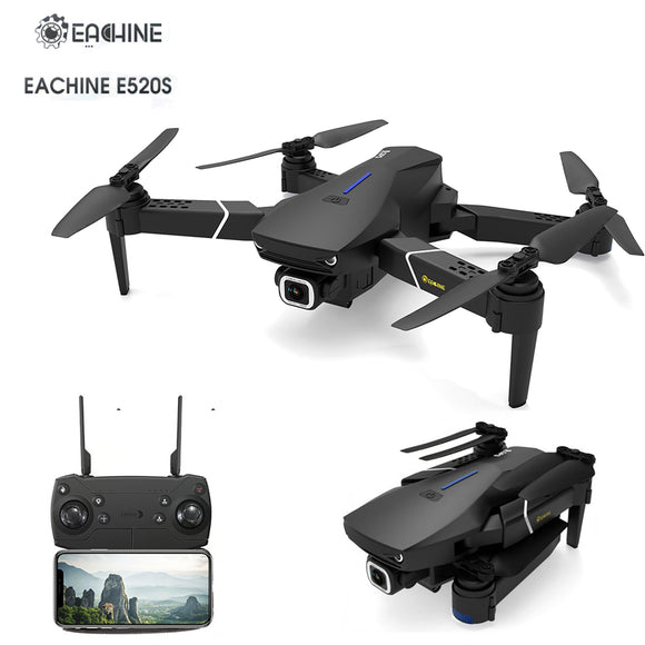 Eachine E520S GPS WIFI FPV 720P 1080P 4K UHD Camera Foldable RC Drone Quadcopter