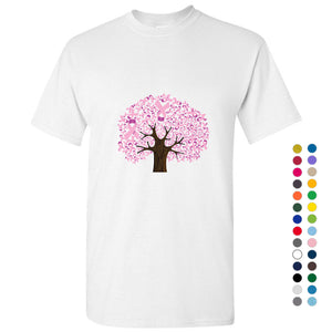 Breast Cancer Tree Hope Support Awareness Pink Ribbon Men T Shirt Tee Top S-5XL