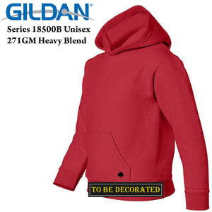 Gildan Red Hoodie Heavy Blend Hooded Sweater Boy Girl Youth Kids