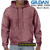 Gildan Heather Sport Dark Maroon Hoodie Heavy Blend Hooded Sweat Men