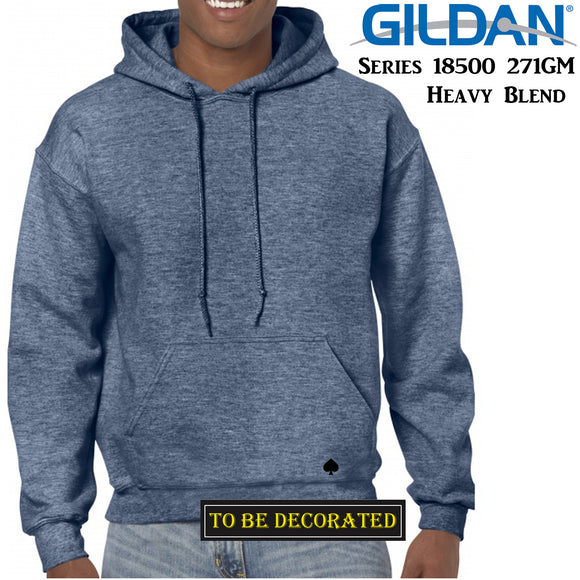 Gildan Heather Sport Dark Navy Hoodie Heavy Blend Hooded Sweat Mens