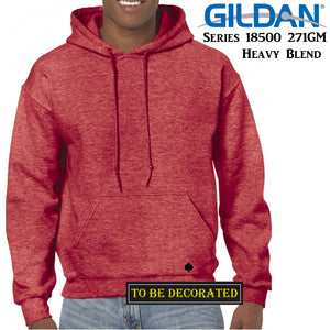 Gildan Heather Sport Scarlet Red Hoodie Heavy Blend Hooded Sweat Men