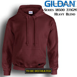 Gildan Maroon Hoodie Heavy Blend Hooded Sweat Mens Pullover Shirt