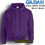 Gildan Purple Hoodie Heavy Blend Hooded Sweat Mens Pullover Shirt