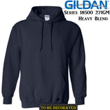 Gildan Navy Blue Hoodie Heavy Blend Basic Hooded Sweat Sweater Mens XS-XXL