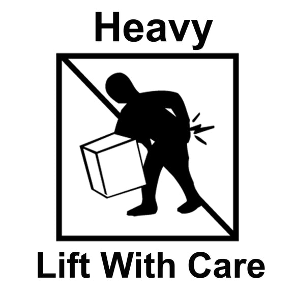 HEAVY LIFT WITH CARE Large shipping label adhesive warning mailing sticky sticker 61x49mm