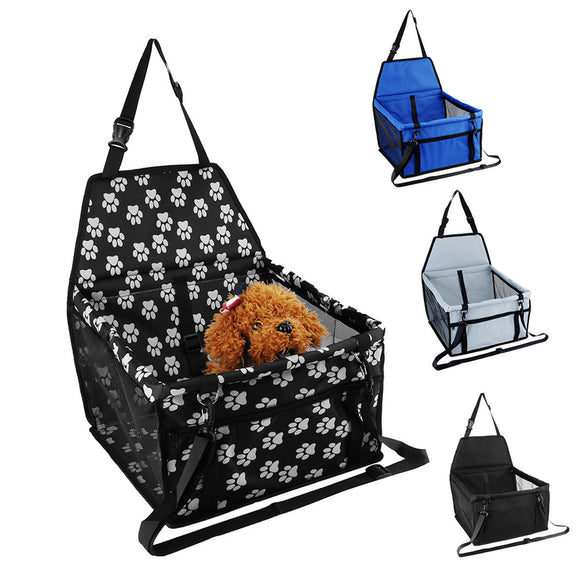 Portable Waterproof Car Booster Seat Pet Dog Cat Travel Cage Carrier Basket Bag