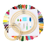 Handcraft Embroidery Starter Cross Stitch Needle Sewing Thread Hoop Frame Kit