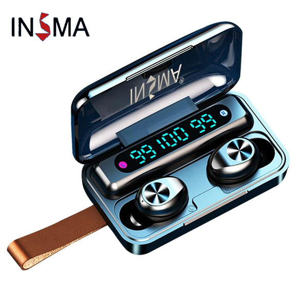 INSMA F9-10 LED Waterproof Bluetooth 5.0 TWS Touch Earphones Headphones Earbuds