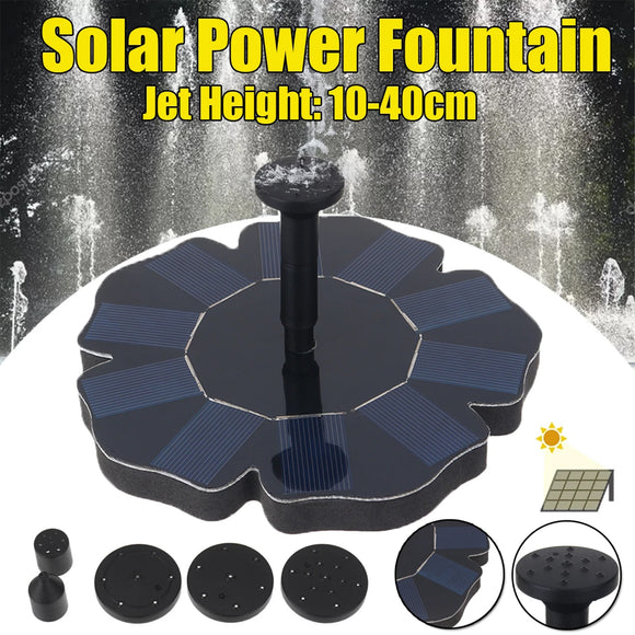 1.4W 180L/H 6V Outdoor Garden Pond Pool Solar Power Floating Fountain Water Pump