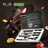 KCASA 6pcs 3Cr13 Stainless Steel Kitchen Chef Knife knives Set Cleaver Scissor KC-3Cr13II