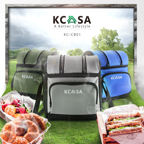 KCASA Insulated Thermal Travel Picnic Camping Lunch Food Storage Hot Cooler Bag KC-CB01
