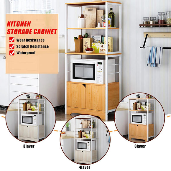 Kitchen Storage Shelf Shelves Rack Organiser Microwave Dish Cabinet Cupboard