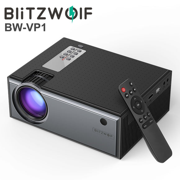 Blitzwolf Portable Mini 1080P HD LCD Home Cinema Projector + Speaker + Remote BW-VP1