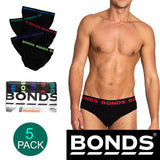 Bonds 5 Pack Mens Assorted Black Cotton Hipster Briefs Comfy Undies Underwear M8DM5T 39K