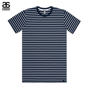 AS Colour ASColour Print Mens Blank Plain Staple Navy Stripe T-Shirt Tee Cotton 5028