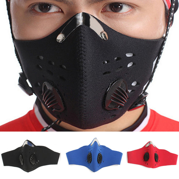 Neoprene pm 2.5 Gas Dust Filter Respirator Motorcycle Half Face Safety Mask