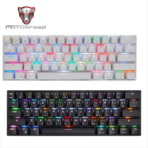 Motospeed CK62 Bluetooth USB C Wireless Wired RGB Mechanical Gaming PC Keyboard