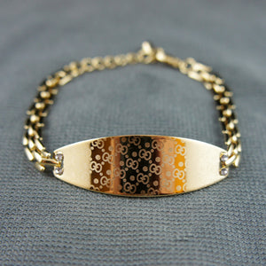 18k Gold plated with Swarovski crystals elegant bangle bracelet