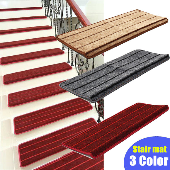 Non Slip Skid Self Adhesive Stair Tread Carpet Staircase Step Mat Rug Cover Pad